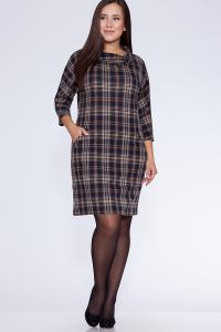 Фото Платья и сарафаны платье (Цвет: набивной трикотаж) 658-387