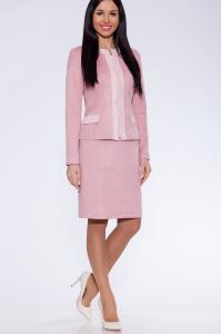 Фото Жакеты и костюмы костюм (Цвет: розовый) 005-741