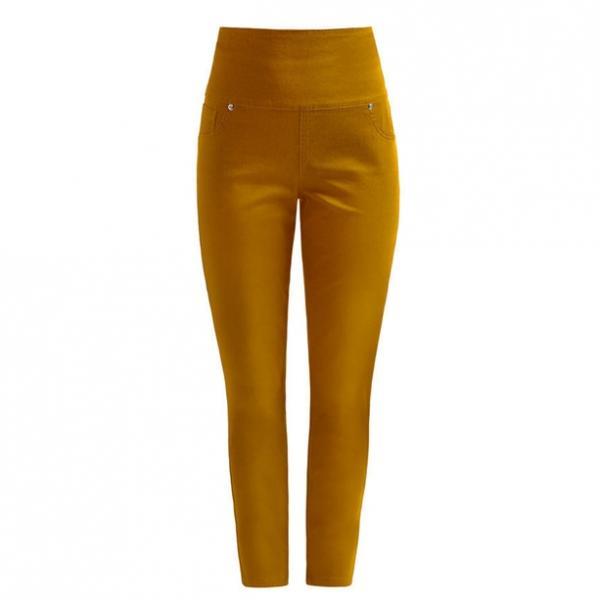 Женские брюки (джегінси). Горчичные