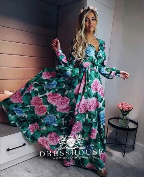 Платье цветы длинное