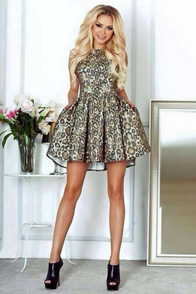 Платье leopard