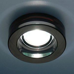 Светильник встраиваемый 4601 хром черный (арт.3-90)