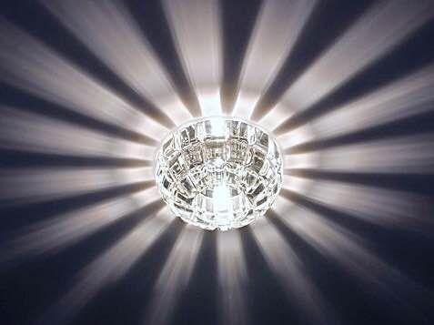 Светильник встраиваемый 019-1 хром прозрачный (арт.4-47)