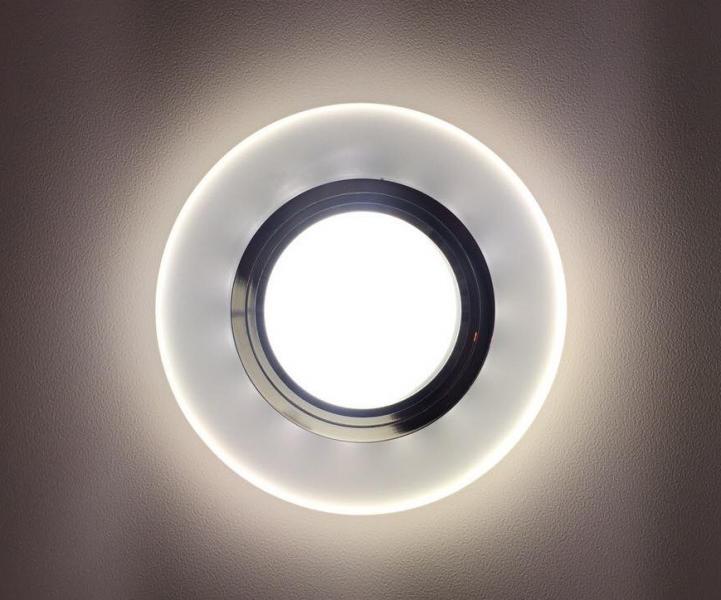 Светильник встраиваемый D0301+LED со светодиодной подсветкой матовый (арт.2-86)