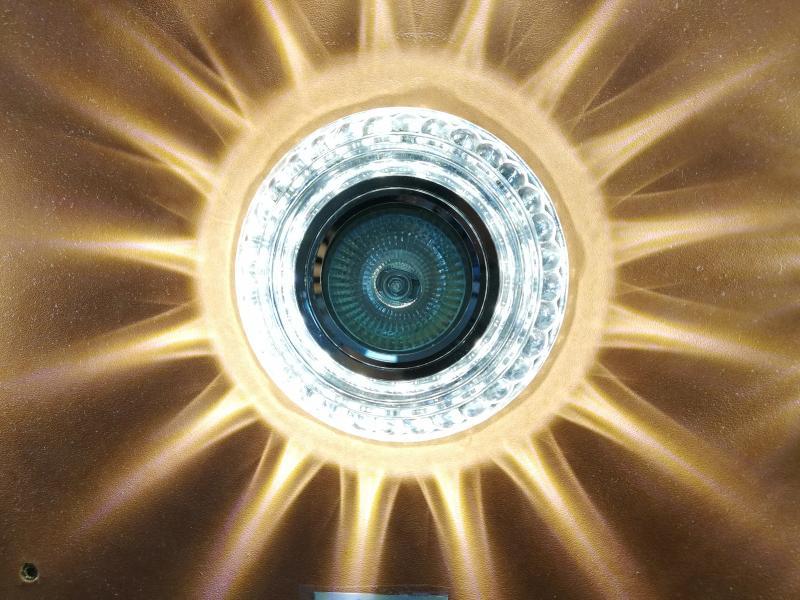 Светильник Встраиваемый 1578 со светодиодной подсветкой (арт.5-23)