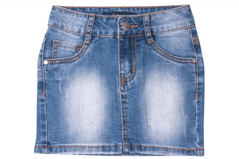 Джинсовая юбка  для девочек 202# оптом