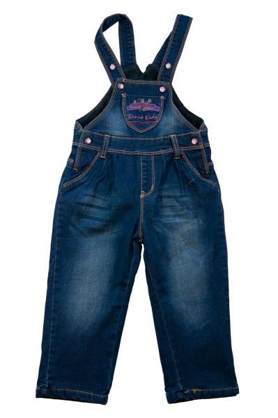 Комбинезон джинсовый для девочек на флисе для девочек 3464B-1