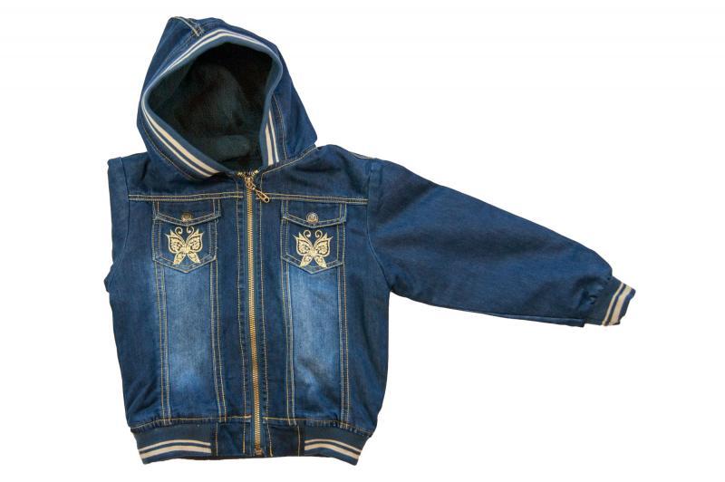 Куртки джинсовые на флисе для девочек для девочек 3475B