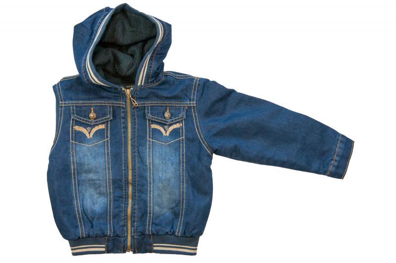 Куртки джинсовые на флисе для девочек для девочек 3479B