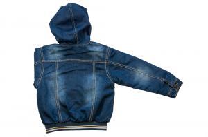 Фото Куртки джинсовые  оптом Куртки джинсовые на флисе для девочек для девочек 3479B