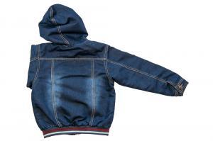 Фото Куртки джинсовые  оптом Куртка для мальчиков на флисе для мальчиков 5004В