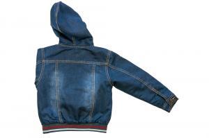 Фото Куртки джинсовые  оптом Куртки джинсовые на флисе мальчиков для мальчиков 6942B