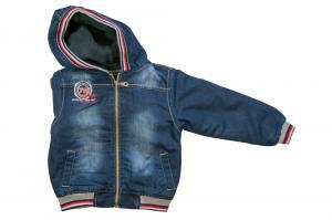 Фото Куртки джинсовые  оптом Куртки джинсовые на флисе мальчиков для мальчиков 6944B