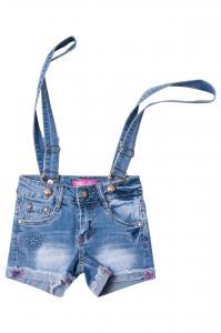 Фото  Джинсовые шорты для девочек с внутренней регулировкой  для девочек D0733# оптом