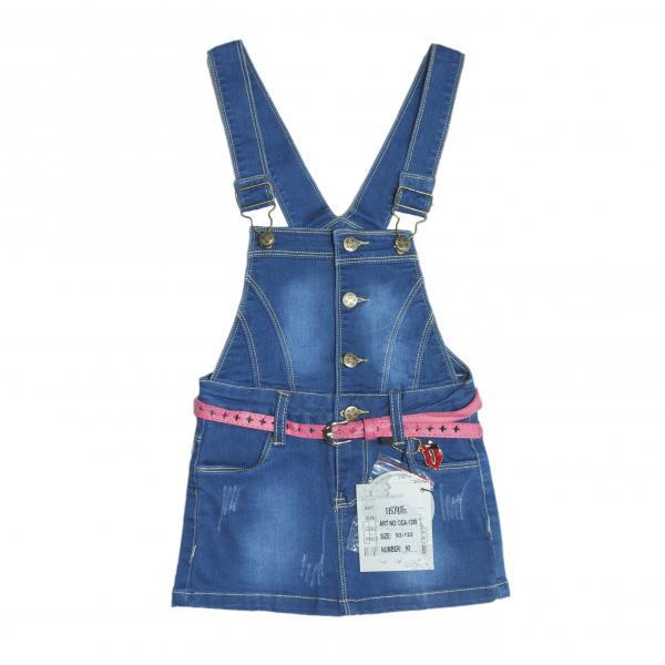 джинсовый сарафан для девочек DQA-1289