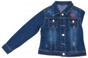 Фото Куртки джинсовые  оптом Джинсовая куртка для девочек для девочек JKA-1109