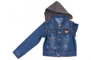 Фото Куртки джинсовые  оптом Джинсовая куртка для мальчиков для мальчиков JKB-1103