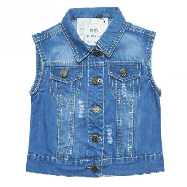 джинсовые жилетки для девочек для девочек MJA-576