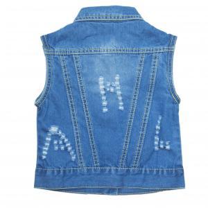 Фото Куртки джинсовые  оптом джинсовые жилетки для девочек для девочек MJA-576