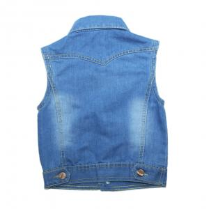Фото Куртки джинсовые  оптом джинсовые жилетки для мальчиков для мальчиков MJB-579