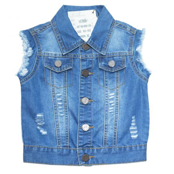 джинсовые жилетки для мальчиков для мальчиков MZB-1296