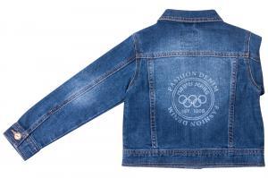 Фото Куртки джинсовые  оптом Джинсовый пиджак для мальчиков для мальчиков Q6601