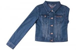 Фото Куртки джинсовые  оптом Джинсовый пиджак для девочек для девочек Q6604