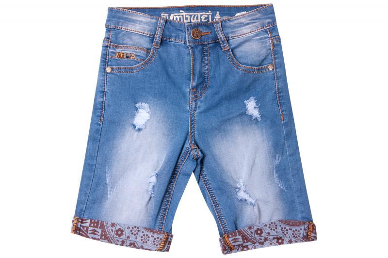 Джинсовые шорты для мальчиков с внутренней регулировкой  для мальчиков QP3983 оптом