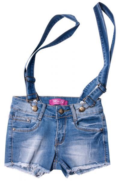 Джинсовые шорты для девочек с внутренней регулировкой  для девочек W0954-1# оптом