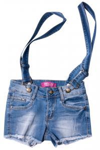 Фото  Джинсовые шорты для девочек с внутренней регулировкой  для девочек W0954-1# оптом