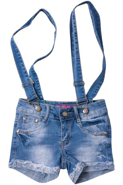 Джинсовые шорты для девочек с внутренней регулировкой  для девочек W1608-1# оптом