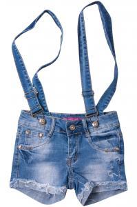 Фото  Джинсовые шорты для девочек с внутренней регулировкой  для девочек W1608-1# оптом
