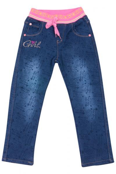 Джинсы для девочек на флисе для девочек YD-67035