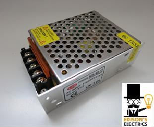Блок питания S-60-12 (12V, 60W, 5A, IP20) (арт.5-13)