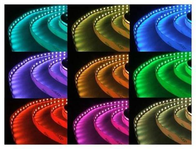 СТАНДАРТНАЯ МНОГОЦВЕТНАЯ СВЕТОДИОДНАЯ ЛЕНТА RGB 5050 30LED 12V/7,2W (арт.1-10)
