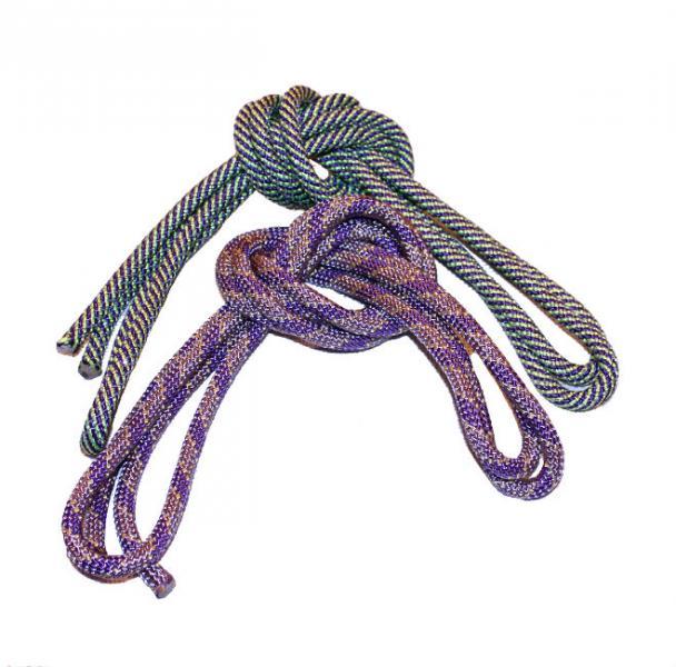 Скакалка гимнастическая пестрая с люрексом