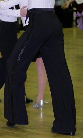 Брюки для танцев стандарт с защипами