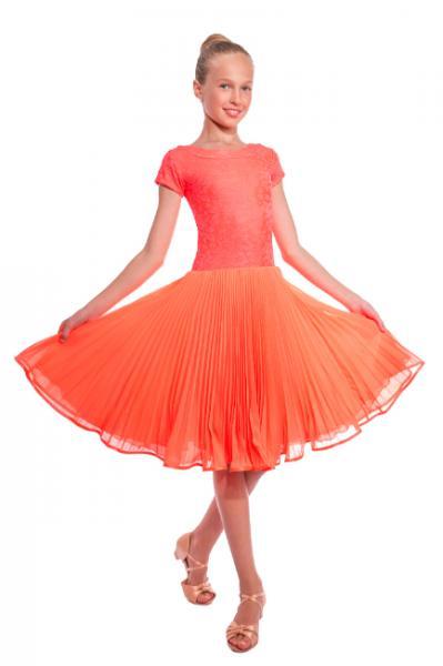 Платье танцевальное юбка плиссе