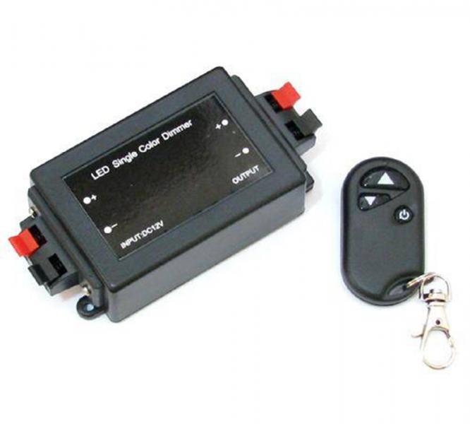 Диммер для лент 12/24V, 96/192W, Радио пульт-брелок (арт.5-46)