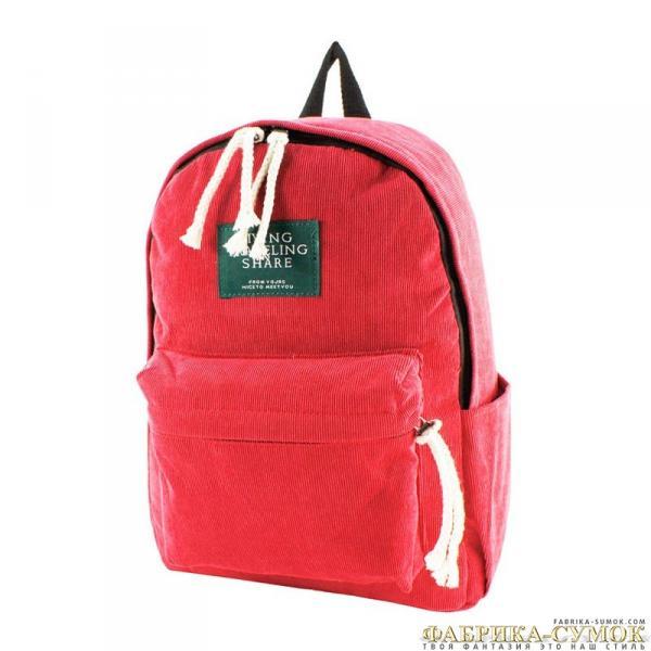 300-6416-red Рюкзак Velvet red текст молод_Y