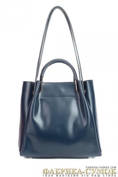 Кожаная сумка Raffinni 8870-К blue