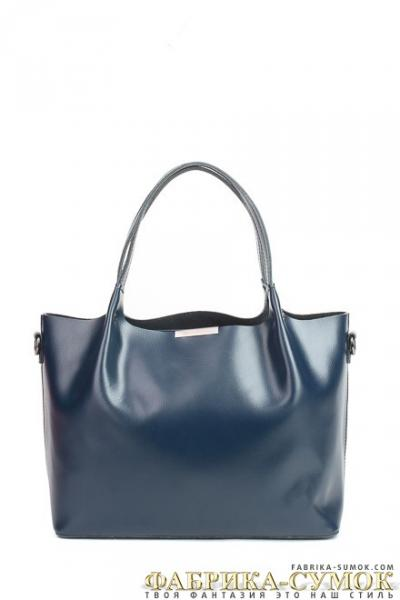 Кожаная сумка Raffinni 8871-К blue