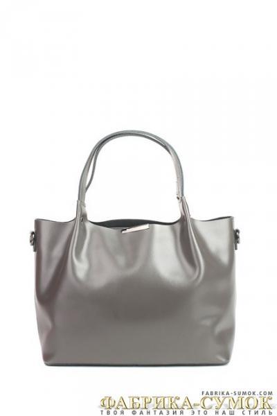 Кожаная сумка Raffinni 8871-К grey