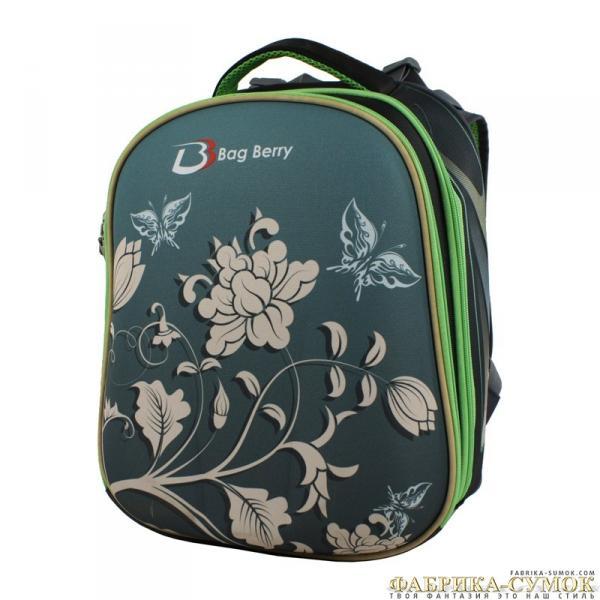 Ранец арт BagBerry - #03 Цветы с бабочками