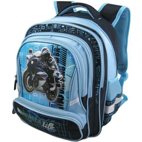 Рюкзак арт.Стелс-873 голубой, мото