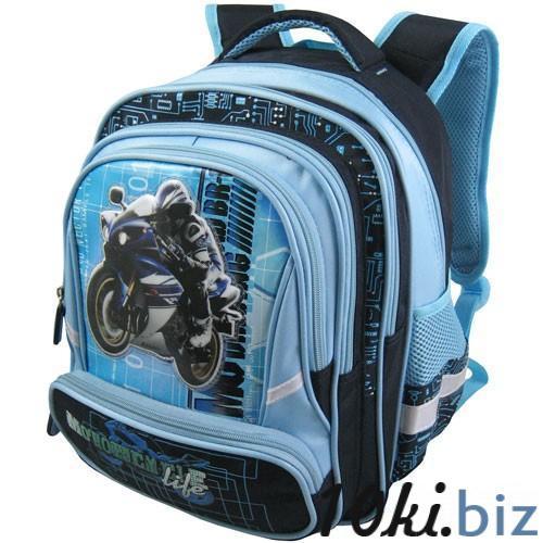 Рюкзак арт.Стелс-873 голубой, мото Школьные рюкзаки и портфели в России