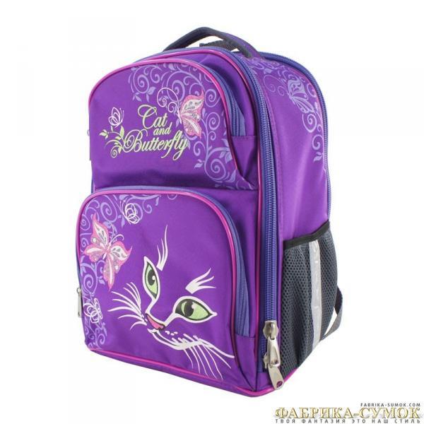 Рюкзак арт.Bagberry-838 фиолетовый М.Кошки