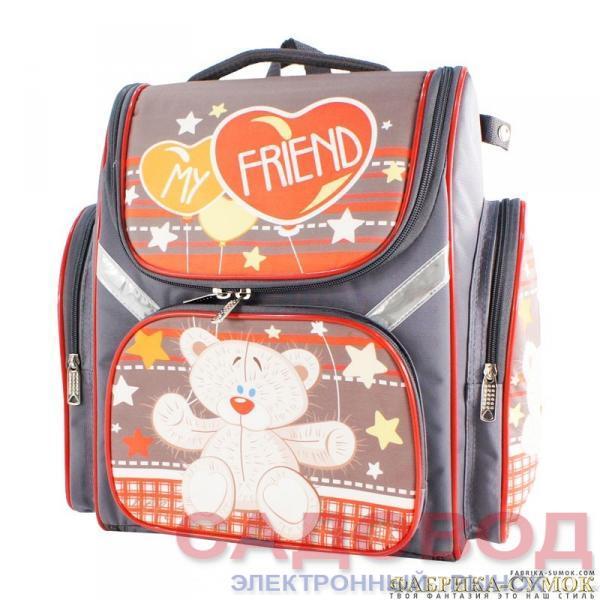 c03ae71c558d Bagberry-902 Ранец школьный №26 Медведь (цв. серый) Школьные рюкзаки и  портфели на рынке Садовод