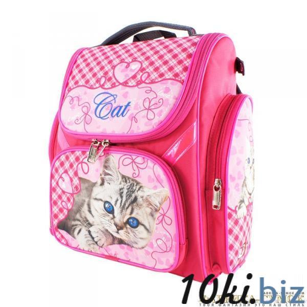 Рюкзак арт.Bagberry-902 №01 Кот британец с цветами (цв. розовый) Школьные рюкзаки и портфели в Москве