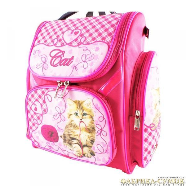 Рюкзак арт.Bagberry-902 №04 Кошка с клубком (цв. розовый)